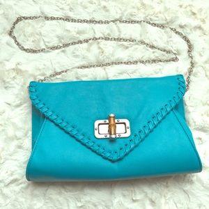 Apt 9 turquoise clutch